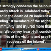 Jamaat condemns attack in Afghanistan targeting Sikhs