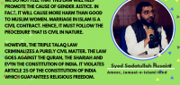 Triple Talaq Law will cause more harm than good to Muslim women – Syed Sadatullah Hussaini