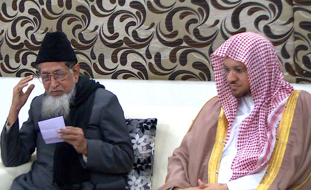 Imam of Masjid-e Nabawi visits JIH headquarters