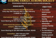 STRONG FAMILY STRONG SOCIETY: Details of prominent activities